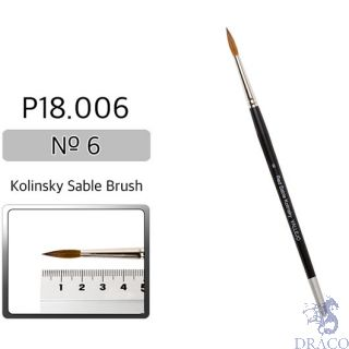Vallejo Brush Series P518 / P18 - Red Sable Kolinsky No 6