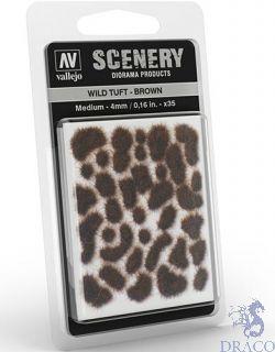 Vallejo Scenery 411: Wild Tuft - Brown (Medium)