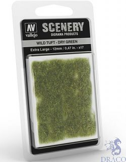 Vallejo Scenery 424: Wild Tuft - Dry Green (Extra large)