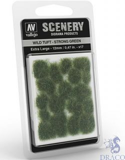 Vallejo Scenery 427: Wild Tuft - Strong Green (Extra large)
