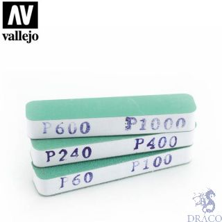 Vallejo Tools: Set of 3 Flexi Sanders Dual-Grit (90x19x12mm)