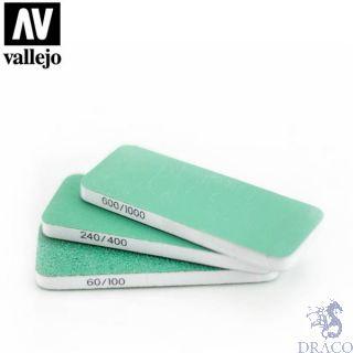 Vallejo Tools: Set of 3 Flexi Sanders Dual-Grit (80x30x6mm)