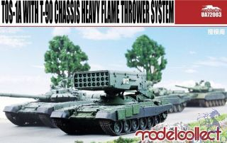 TOS-1A with T-90 Chassis Heavy Flame Thrower System 1/72 [ModelCollect]