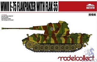 WWII E-75 Flakpanzer with FLAK 55 1/72 [ModelCollect]