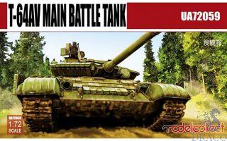 T-64AV Main Battle Tank 1/72 [ModelCollect]