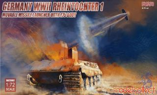 Germany WWII Rheintochter 1 Movable Missile Launcher with E75 Body 1/72 [ModelCollect]