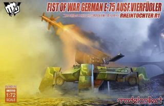 Fist of War German E75 Ausf.vierfussler Rheintochter 1 1/72 [ModelCollect]