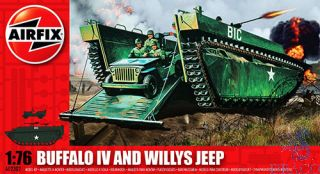 Buffalo IV and Willys Jeep 1/76 [Airfix]