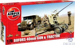Bofors 40mm Gun & Tractor 1/76 [Airfix]
