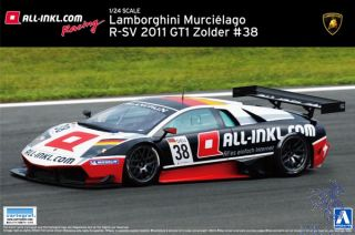 Lamborghini Murciélago R-SV GT1 Zolder #38 1/24 (Super Car Series #16) [Aoshima]
