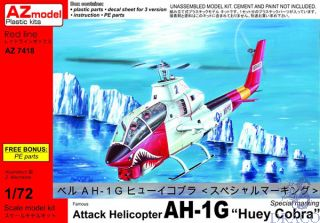 """Famous Attack Helicopter AH-1G """"Huey Cobra"""" Special Marking 1/72 [AZmodel]"""