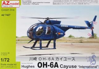 """Famous Helicopter Hughes OH-6A Cayuse """"International"""" 1/72 [AZmodel]"""