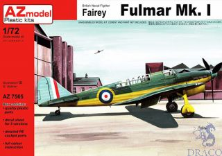 British Naval Fighter Fairey Fulmar Mk.I 1/72 [AZmodel]