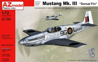 """American Famous Fighter Mustang Mk.III """"Dorsal fin"""" 1/72 [AZmodel]"""