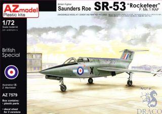 """British Fighter Saunders Roe SR-53 """"Rocketeer"""" F. Mk. 1 RAF 1/72 [AZmodel]"""