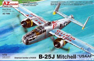 """American Bomber of W.W.II B-25J Mitchell """"USAAF"""" 1/72 [AZmodel]"""