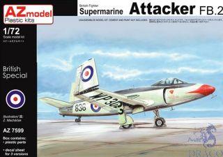 British Fighter Supermarine Attacker FB.2 1/72 [AZmodel]