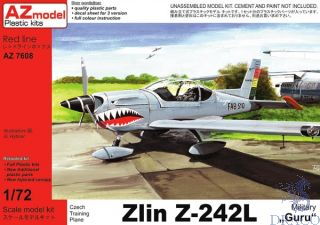 """Czech Training Plane Zlin Z-242L Military """"Guru"""" 1/72 [AZmodel]"""