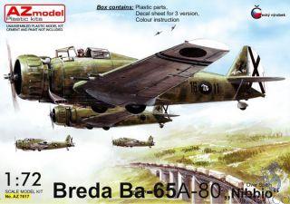 "Breda BA-65 A-80 ""Nibbio"" Over Spain 1/72 [AZmodel]"