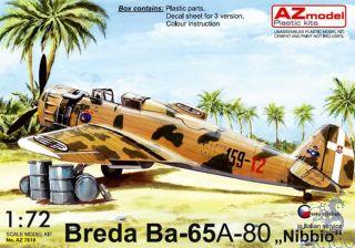 "Breda Ba-65 A-80 ""Nibbio"" in Italian service 1/72 [AZmodel]"