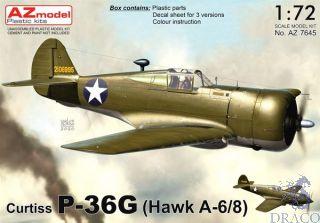 Curtiss P-36G (Hawk A-6/8) 1/72 [AZmodel]