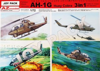 Famous Attack Helicopter AH-1G Huey Cobra 3 in 1 Joy Pack 1/72 [AZmodel]