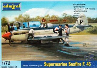 British Famous Fighter Supermarine Seafire F.45 1/72 [AZmodel]