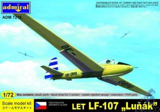 """Czechoslovak Aerobatic Glider LET LF-107 """"Luňák"""" 1/72 [AZmodel]"""