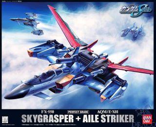 FX-550 Skygrasper + AQM/E-X01 AILE Striker 1/60 [Bandai PG Gundam #010]