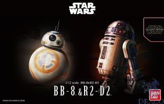 BB8 & R2-D2 1/12 [Bandai Star Wars - The Force Avakens]
