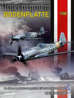 Bodenplatte Fw 190D-9 & Bf 109G-14, G14/AS Dual Combo (Limited Edition) 1/48 [Eduard]