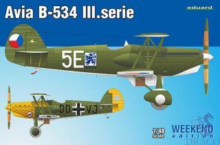 Avia B-534 III. Serie 1/48 (Weekend Edition) [Eduard]