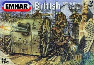 Brittish WWI Artillery with 18 pdt gun 1/72 [Emhar]