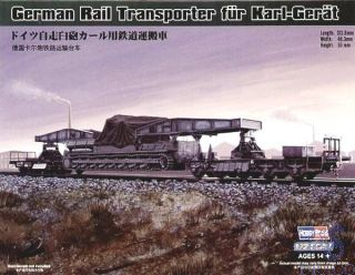 German Rail Transporter for Karl-Gerät 1/72 [HobbyBoss]