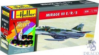 Mirage III E/R/5 Starter Kit 1/72 [Heller]