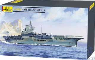 Aircraft Carrier HMS Illustrious 1/400 [Heller]