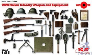 WII Italian Infantry Weapon and Equipment 1/35 [ICM]