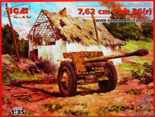 7,62cm Pak (36)r - WWII German Anti-Tank Gun 1/35 [ICM]