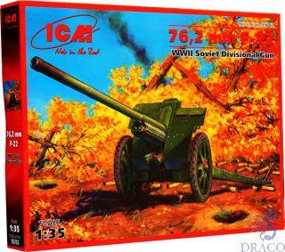 76,2mm F-22 - WWII Soviet Divisional Gun 1/35 [ICM]
