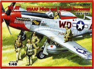 USAAF Pilots and Ground Personnel 1/48 [ICM]