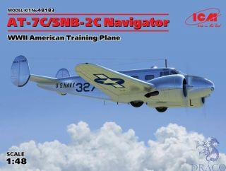 AT-7C/SNB-2C Navigator WWII American Training Plane 1/48 [ICM]
