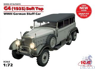 G4 (1935) Soft Top WWII German Staff Car 1/72 [ICM]