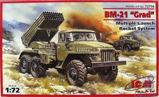 "BM-21 ""Grad"" Multiple Launch Rocket System 1/72 [ICM]"