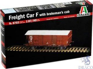Freight Car F with brakeman's cab 1/87 = H0 [Italeri]