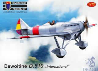"""Dewoitine D.510 """"International"""" Limited Edition 1/72 [AZmodel]"""
