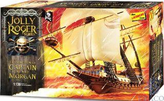 Satisfaction of Captain Henry Morgan - Jolly Roger Pirate Ship 1/130 [Lindberg]