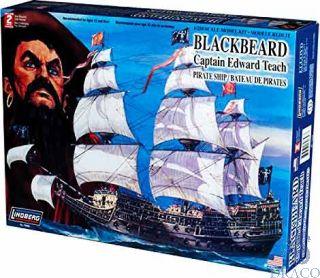 Blackbeard Captain Edward Teach Pirate Ship 1/250 [Lindberg]