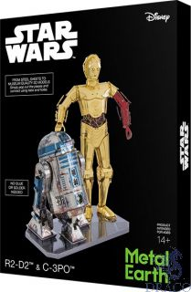 C-3PO + R2D2 Set - Box Version [Metal Earth: Star Wars]