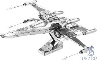 Poe Dameron's X-Wing Fighter [Metal Earth: Star Wars - The Last Jedi]