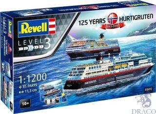 125 Years Hurtigruten 1893-2018 MS Trollfjord & MS Midnatsol Gift Set  [Revell]